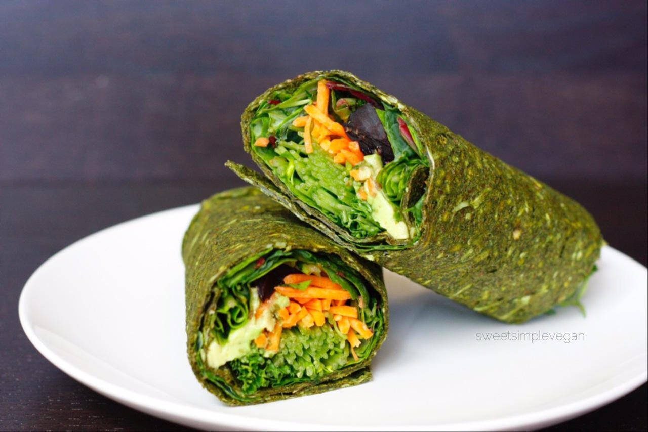 Green Spirulina Wrap